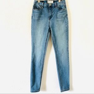 Free People skinny jeans; high rise